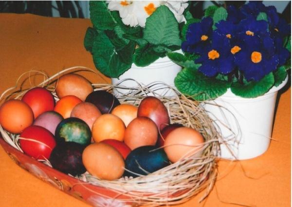 pisanci 02cvijeće1 Jaja za Uskrs obojena biljem i ukrašena