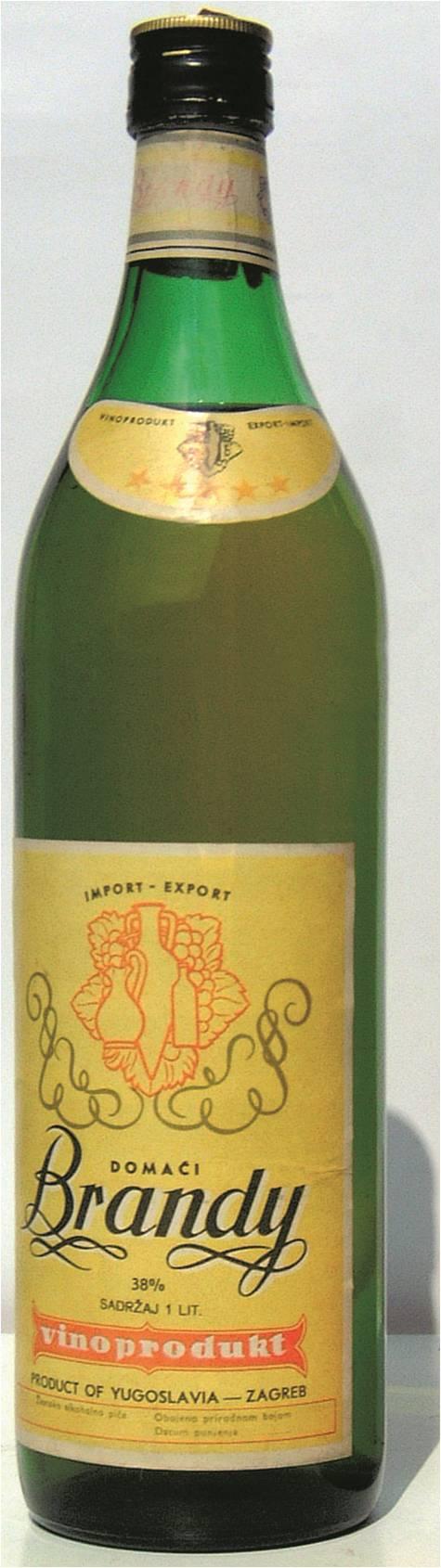 Domaći Brandy Vinoprodukt oko 1970 Kako je Brandy domaći postao brend, pa Brand No 1